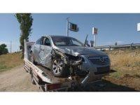 Aksaray'da otomobil şarampole devrildi: 5 yaralı
