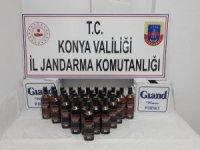Konya'da jandarmadan kaçak içki operasyonu
