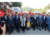 Konya'da Ahilik Yürüyüşü ve Şed Kuşanma Töreni gerçekleştirildi