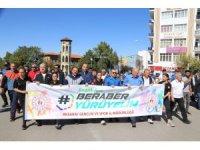 Aksaray'da Avrupa Hareketlilik Haftası kapsamında yürüyüş düzenlendi