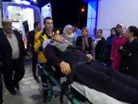 Sultanhanı'nında otomobil şarampole düştü: 2 yaralı