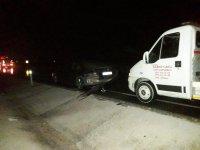 Eşmekaya'da zincirleme trafik kazası