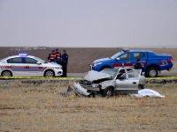 Eskilli aile kaza yaptı:1 ölü