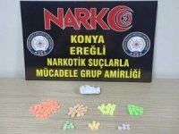Konya'da şüphe üzerine durdurulan araçtan uyuşturucu çıktı