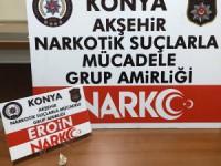 Konya'da durdurulan araçta uyuşturucu bulundu