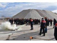 Karatay Belediyesinden personele yangın tatbikatı eğitimi