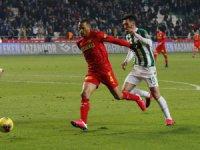 Süper Lig: Konyaspor: 1 - Göztepe: 1 (İlk yarı)