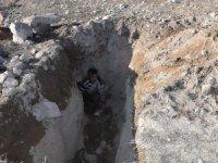 Tarihi Tosun Höyüğü'nde Definecilerin Açtığı Tünel Ortaya Çıktı