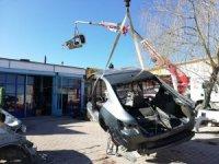 Hacizli ve çalıntı araçları parçalayıp satanlara operasyon: 3 gözaltı