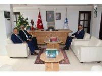 Başsavcı Solmaz ve Adalet Komisyonu Başkanı Ay'dan Başkan Akkaya'ya ziyaret
