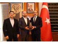 Bilal Erdoğan Başkan Altay'ı ziyaret etti
