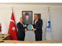 Emniyet Müdürü Mustafa Aydın'dan Başkan Akkaya'ya ziyaret
