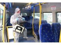 Konya'da 530 minibüs dezenfekte edildi