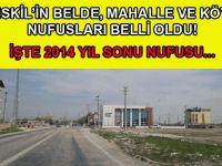 İşte 2014 Yıl sonu itibari ile Eskil'in Yeni Nufusu