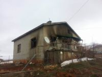 Konya Hüyük'te ev yandı: 1 Yaralı
