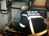 Mutfaktaki Yangın Korkuttu