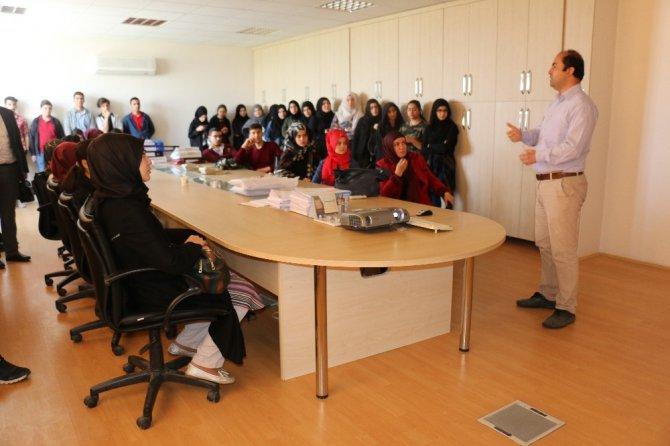 Lise öğrencileri Konya Atıksu Arıtma Tesisini ziyaret etti