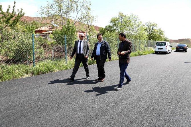Başkan Yazgı, asfalt çalışmalarını inceledi