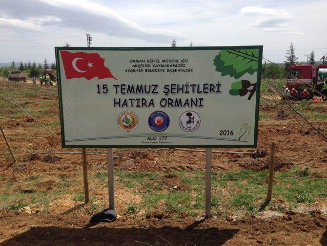 Akşehir Belediyesi'nden 15 Temmuz Şehitleri Hatıra Ormanı