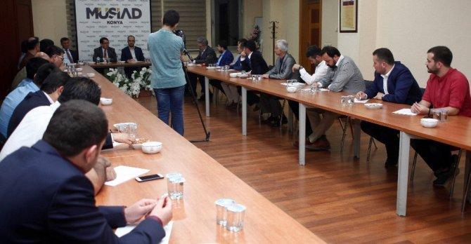Vergi Dairesi Başkanı Ünver, MÜSİAD Konya'nın konuğu oldu