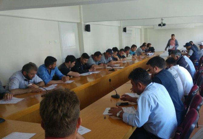 Seydişehir 8. Bölge Şube Müdürlüğü personeline eğitim verildi
