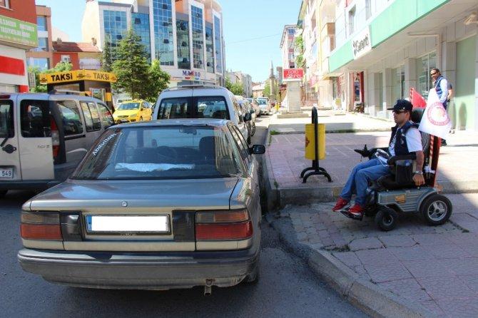 Seydişehir'de doğuştan engelli çocuk geçici fahri zabıta oldu