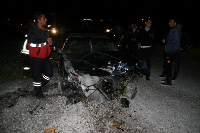 Kulu'da devrilen otomobilin sürücüsü yaralandı