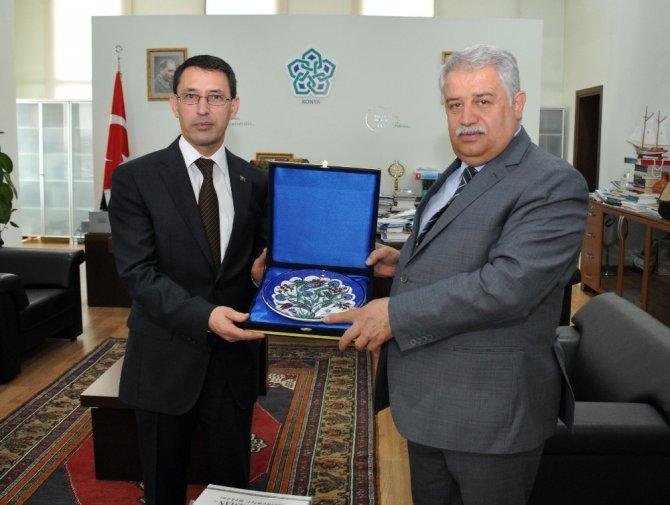 Türkmenistan Büyükelçisi Amanlyev'den NEÜ'ye Ziyaret