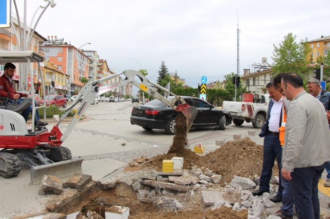 Seydişehir'de MOBESE kamera çalışmaları başladı