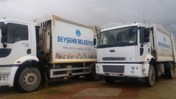 Beyşehir'de yeni çöp araçları hizmet vermeye başladı
