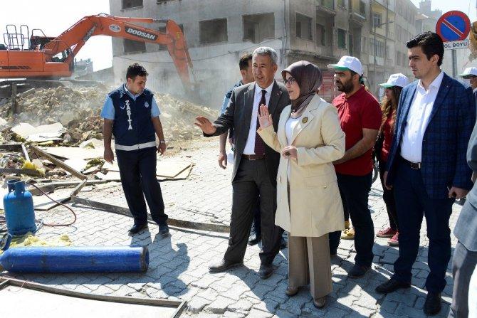 Meram Larende Yokuşu'nda yıkımlar başladı