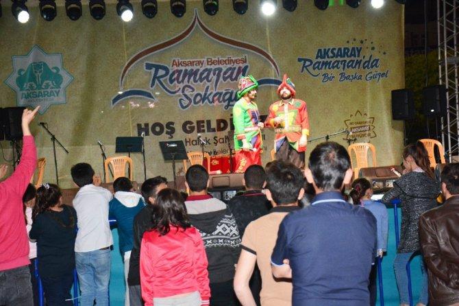 Aksaray'da Ramazan Sokağı etkinlikleri sürüyor