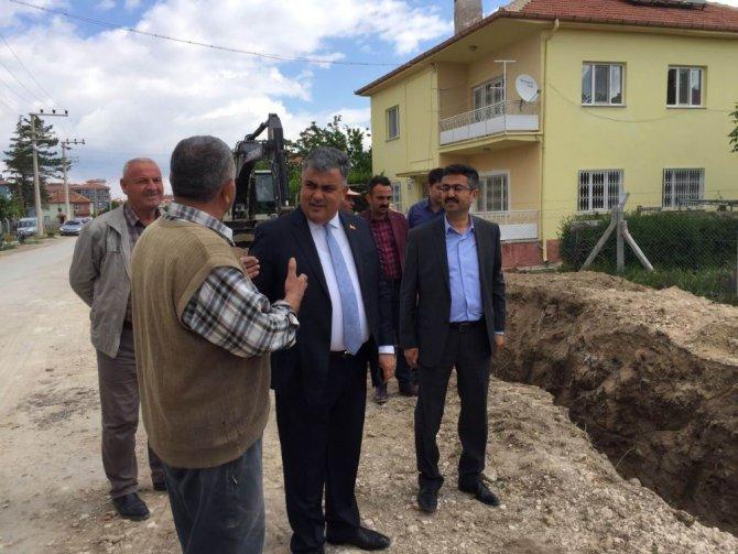 Başkan Özaltun, şebeke hattı çalışmalarını inceledi