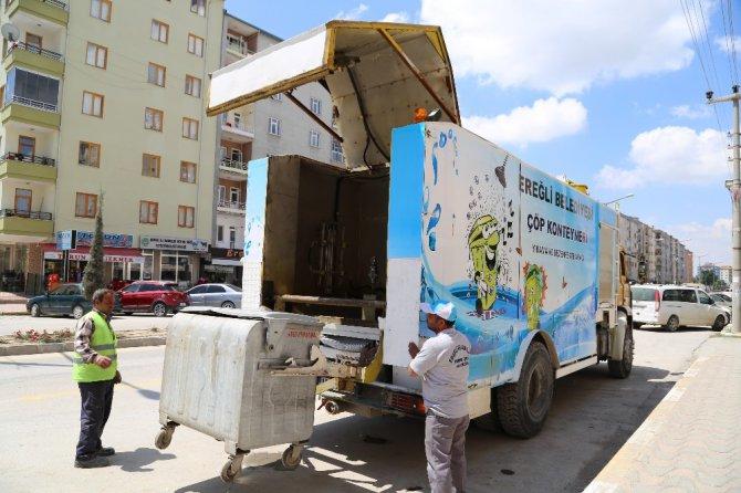Çöp konteynerlerine özel temizlik