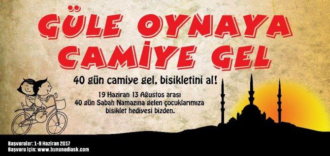 """Selçuklu'dan """"Güle Oynaya Camiye Gel"""" projesi"""