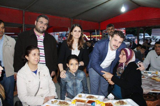 Yunak'ta şehit ailelerine iftar
