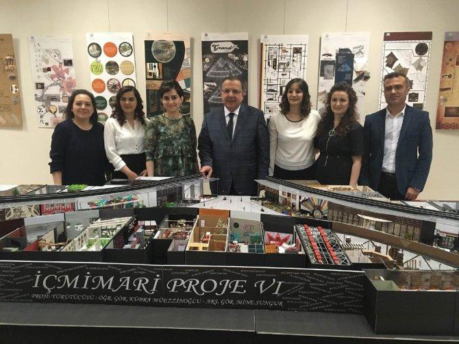 Selçuk, İç Mimarlık ve Çevre Tasarımı Bölümünden proje sergisi
