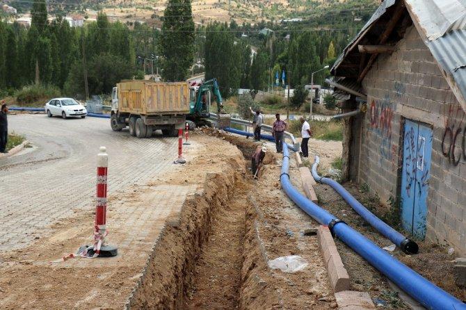Konya'nın ilçelerinde su şebekesi yapımı 2017'de de sürüyor