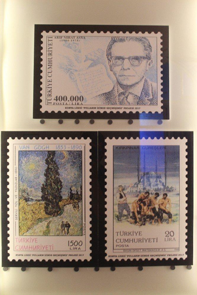 Tarihi Konya Lisesinde tarihi pullar sergileniyor