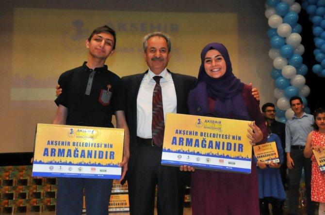Akşehir 1 milyon kitaba koşuyor projesi ödül töreni yapıldı