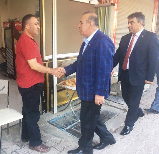 Karamercan'dan ilçelerdeki esnaflara Ramazan ziyareti