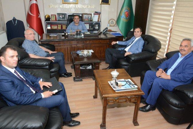 Defterdar Arslan'dan Başkan Koçak'a ziyaret