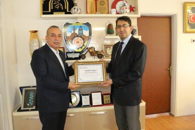 Konya Vergi Dairesi Başkanlığı'ndan KONESOB'a teşekkür