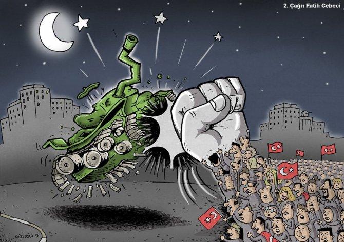 15 Temmuz konulu karikatür yarışması sonuçlandı