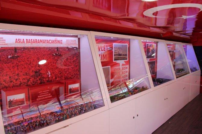 15 Temmuz ve Çanakkale müze otobüsleri Seydişehir'de