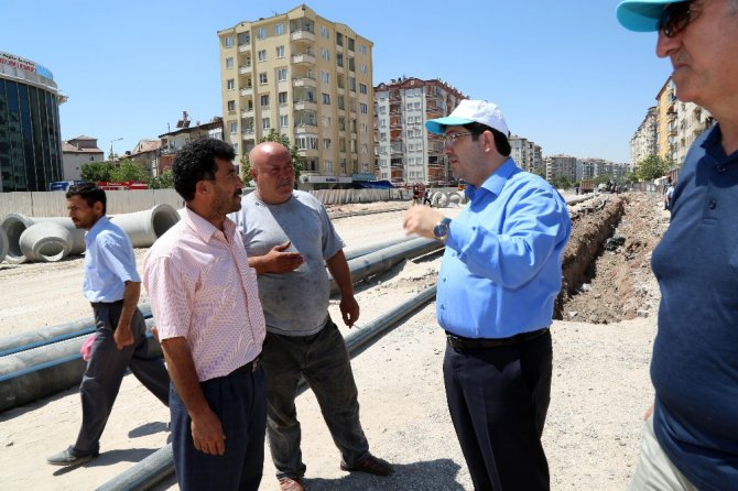 Aksaray'da alt geçit projesinde çalışmalar sürüyor