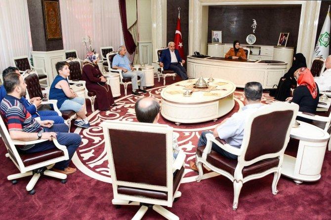 15 Temmuz gazisinden Başkan Toru'ya ziyaret