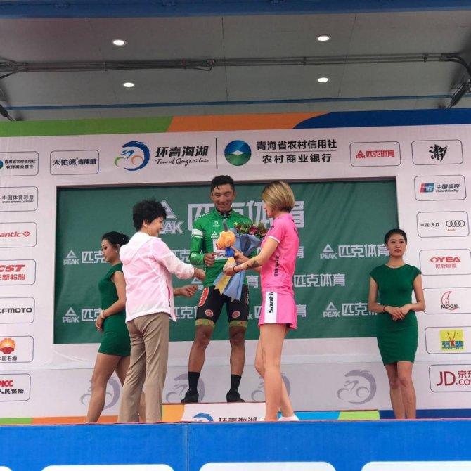 Çin'de Torku Şekerspor sporcusu Örken 10. etapta da birinci