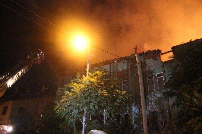 Boş binada çıkan yangın 2 saatte söndürüldü