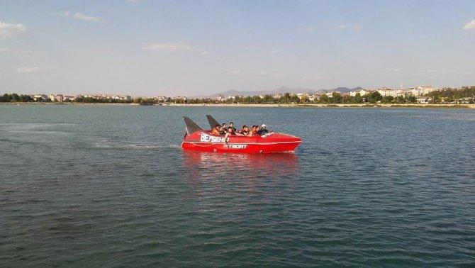 Beyşehir Gölü'nde jetboat heyecanı